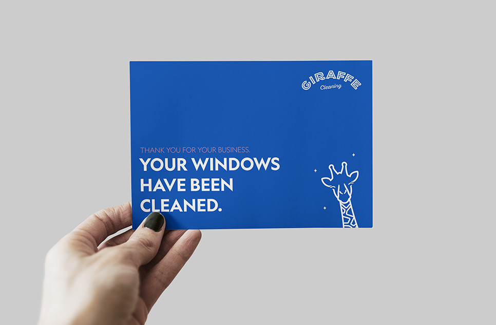 Your windows have been cleaned by giraffe cleaning